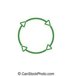 rotation arrow line logo vector green recycle