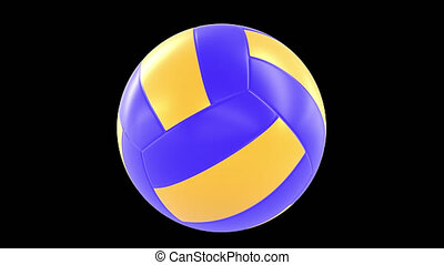 rotation, balle, volley-ball, 360, boucle