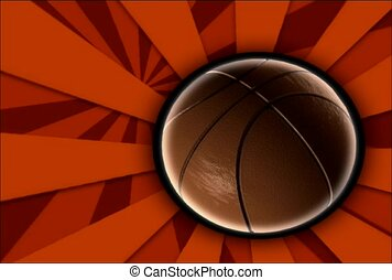 rotation, basket-ball, balle