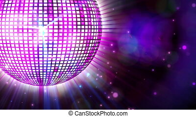 rotation, brillant, danser balle, pourpre