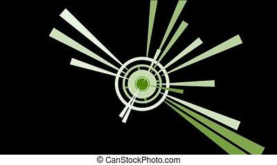 rotation circle & dazzling rays - rotation circle & dazzling...
