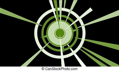 rotation circle & dazzling  rays