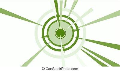rotation circle & rays