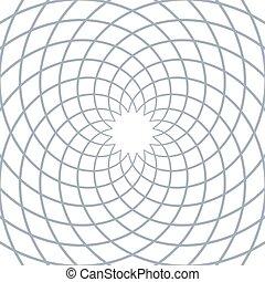 Rotation circular lines pattern.