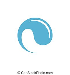 rotation drop water clean logo vector