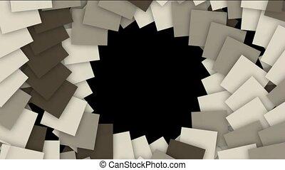 rotation, escalier, spirale, carrée