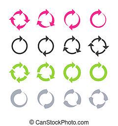 rotation, förnya, reload, cirkel