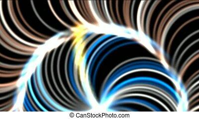 rotation fiber optic launch rays