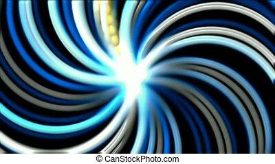 rotation, fibre, rayons, optique, lancement