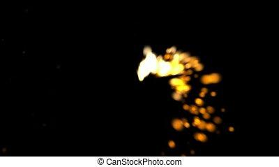 Rotation fireworks, seamless loop