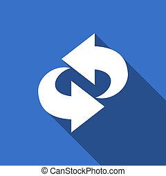 rotation flat icon refresh sign