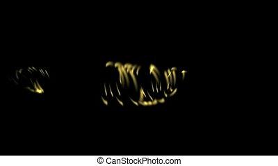 rotation golden metal ring, swirl cy