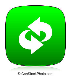 rotation green icon for web and mobile app