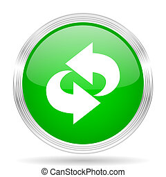 rotation green modern design web glossy icon