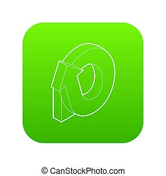 Rotation loop icon green