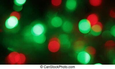 Rotation of Christmas multicolored defocused lights. Festive...