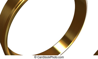 Rotation of the two wedding rings - Transition from the...