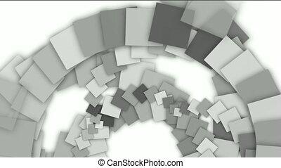 rotation, papier, résumé, carrée