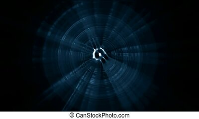 rotation plastic blue ripple round