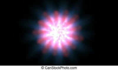 rotation purple ray, flower pattern