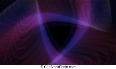 rotation purple rays light in space