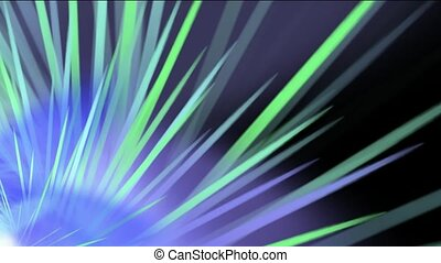 rotation ray light in space