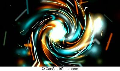 rotation, rayon, lumière électrique