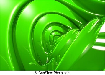 rotation, revolve, green