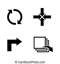 Rotation. Simple Related Vector Icons