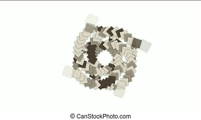 rotation square card paper tunnel