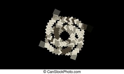 rotation square card paper tunnel hole,math geometry...