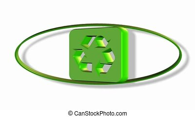 rotation, symbole, recyclage