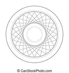 rotation triangle sacred geometry symbol