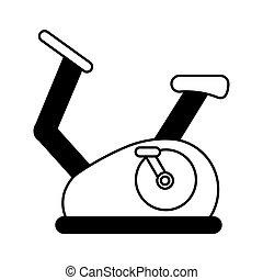 rotation, vélo, isolé, icône