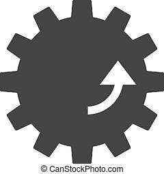 rotation, vektor, ausrüstung, abbildung, ikone