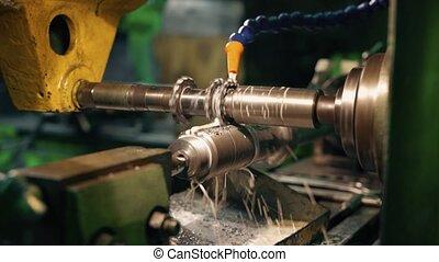 rotation, vidéo, production, partie, plante, machine
