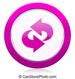 rotation violet icon refresh sign