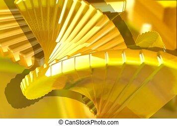 rotation, yellow, twist