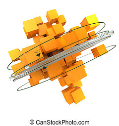 rotazione, arancia