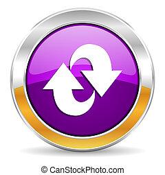 rotazione, icona