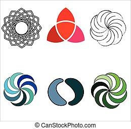 rotazione, logos, movimento, spirale