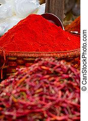 rote paprikas, pulver