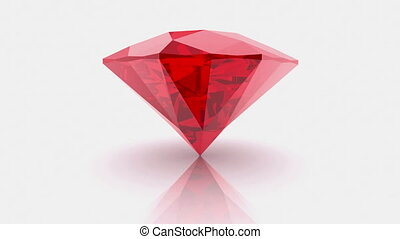 Rote red diamond on a white
