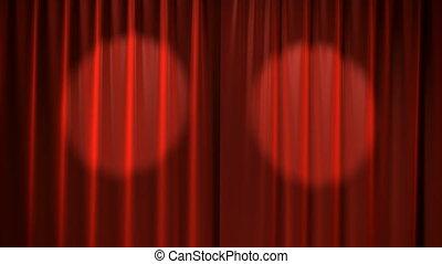 rote vorhänge