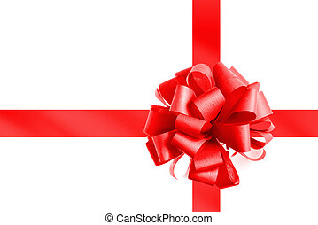 roter bogen, und, geschenkband, freigestellt, weiß