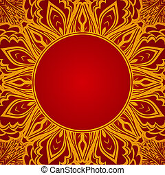 roter hintergrund, mit, spitze, runder , verzierung