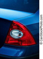 roter schwanz, licht, auf, auto., detail