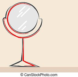 roterande, ikon, spegel