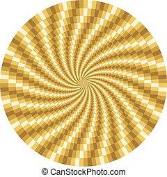 roterande, rörelse, optisk illusion