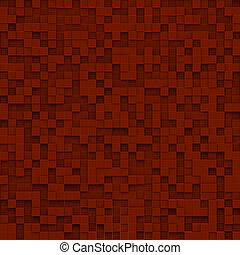 rotes , abstrakt, bild, von, würfel, hintergrund